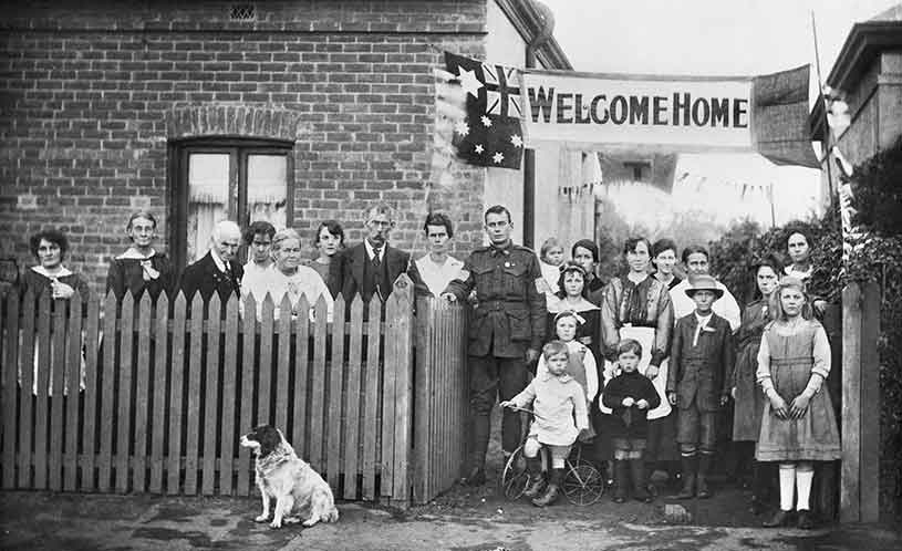 Welcome Home Sapper Arthur Findon Dunbar Mm Sydney