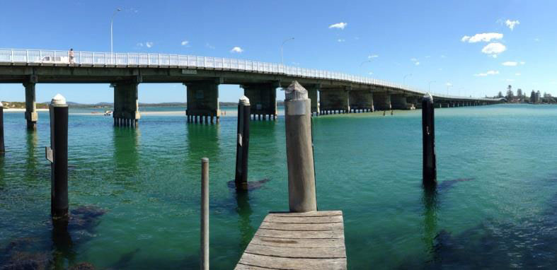 The Forster-Tuncurry Bridge - Photo by Maddison Johnson who was Highly Commended in the 2014 Myall Lakes Photography Competition