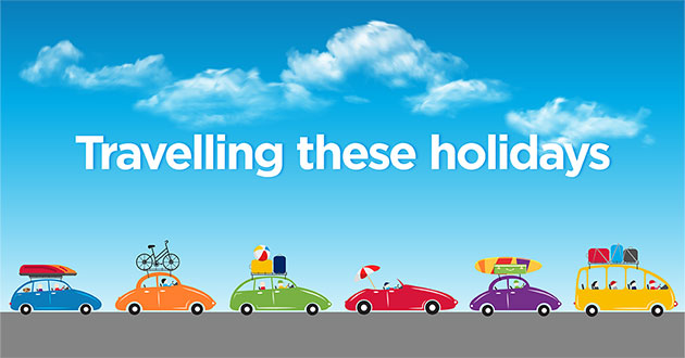 Pacific Highway holiday banner