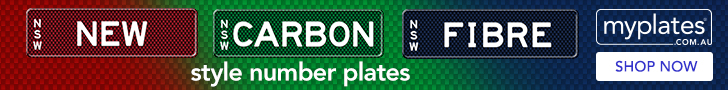Enhance your ride with the new carbon fibre style number plates.