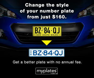 MyPlates – Change the style of your number plate from just $160 - Get a better plate with no annual fee