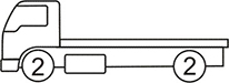 Axle layout for R11 code - 2 at the front and 2 at the back