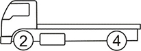 Axle layout for R12 code - 2 at the front and 4 at the back