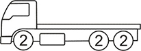 Axle layout for R19 code - 2 at the front and 2 sets of 2 at the back