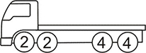 Axle layout for R24 code - two sets of 2 at the front and two sets of 4 at the back