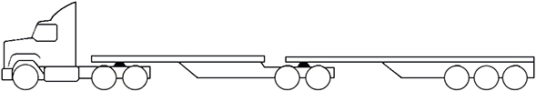 Example - image of a MC3 B-double multi combination prime mover