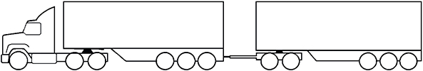 Example - image of a MC3 road train multi combination prime mover