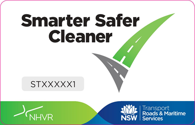 Sample sticker – Trailer; showing the 'tick' logo and the words 'Smarter Safer Cleaner'.
