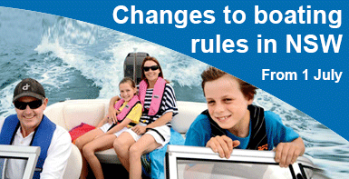 Changes to boating rules in NSW from 1 July