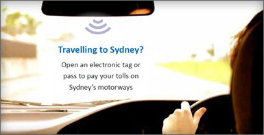 Travelling to Sydney? Get an electronic tag or pass.