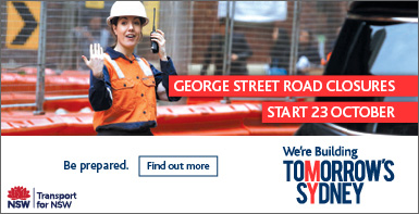 Tomorrow's Sydney - George Street road closures start 23 October