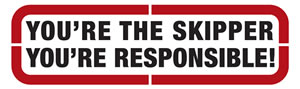 Your'e the skipper – you're responsible! logo