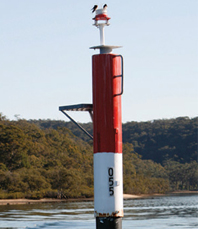 Navigation marker pole