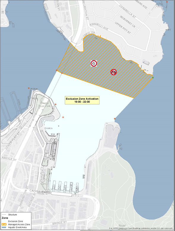 Australia Day Exclusion Zone Map