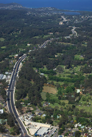 Aerial view of the Central Coast Highway