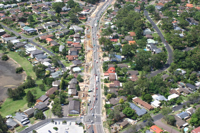 Aerial view of Avoca Drive