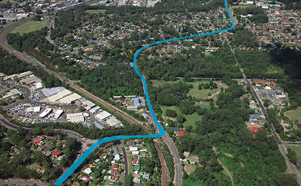 Narara to Lisarow - Manns Road - Pacific Highway - Central