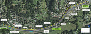 Ourimbah Street and Glen Road project map