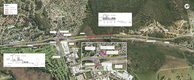 Warnervale Link Road proposal aerial image - click to view a larger version