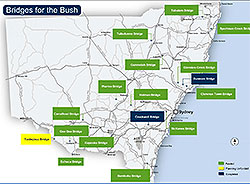 View or download the Bridges for the Bush map (PDF, 159Kb).