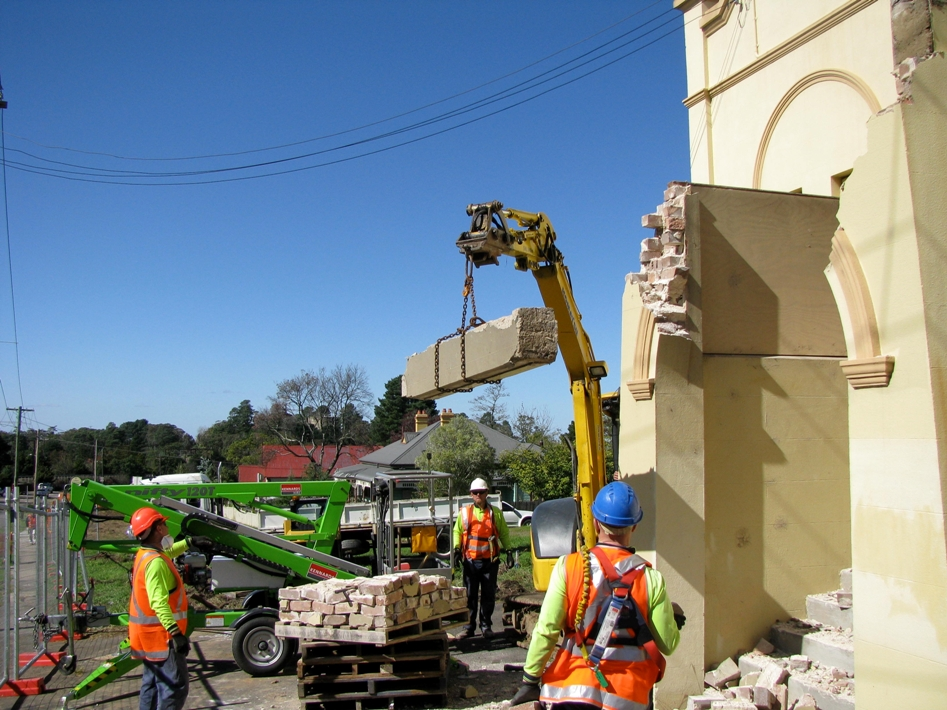 Great care is taken to retain original materials during restoration works