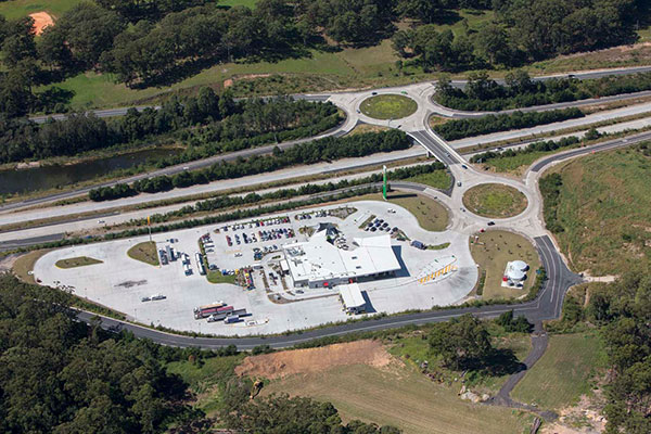 Aerial view Nambucca Heads Highway Service Centre