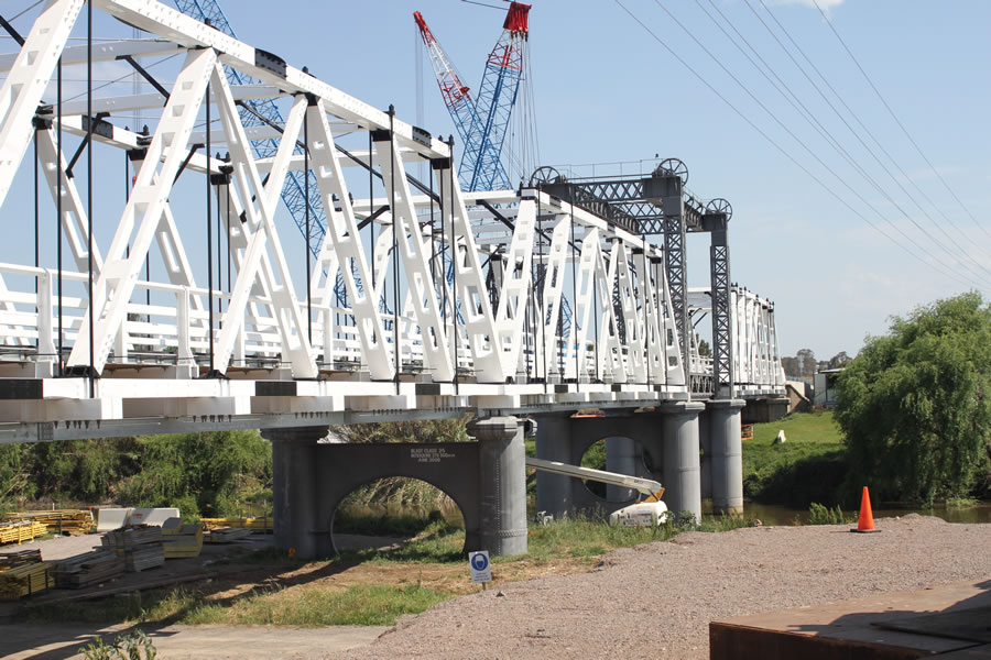New truss elements in place (Oct 2012)