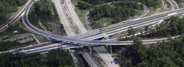 Hunter Expressway - aerial view