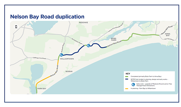 Nelson Bay Road Map