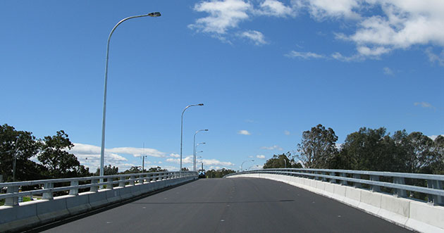 The eastbound overpass near the Railway Station (Church Street) opens to traffic