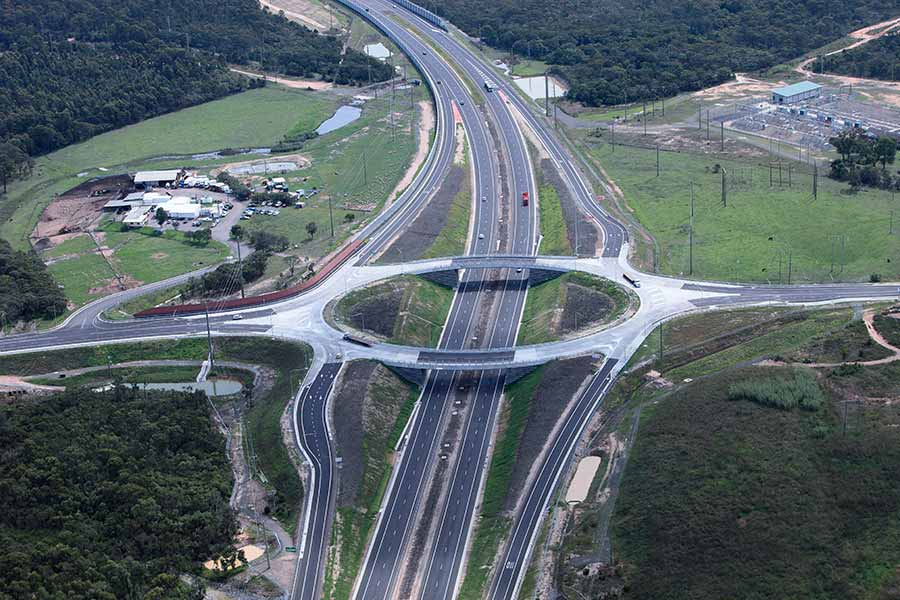 Kurri Kurri interchange looking west