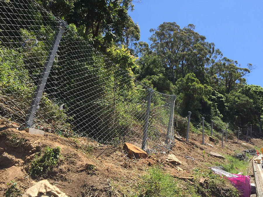 Week 2 – Installation of barrier mesh fencing