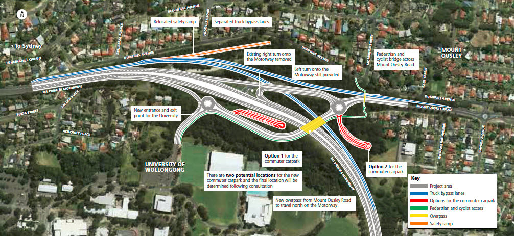 Mount Ousley interchange  M1 Princes Motorway projects