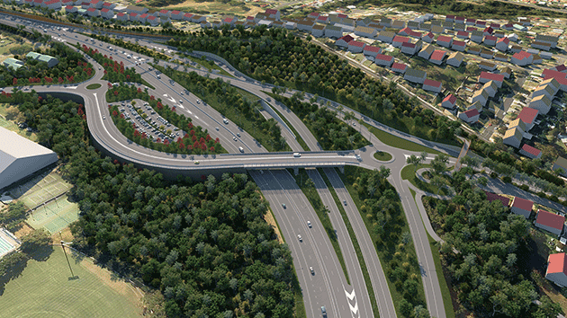 Artists impression of the proposed interchange.