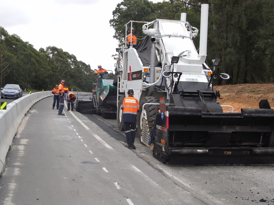 Construction progress - preparing the road surface