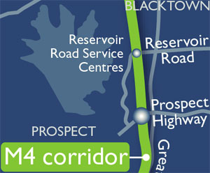 View or download the M4 Corridor map (PDF, 280KB).