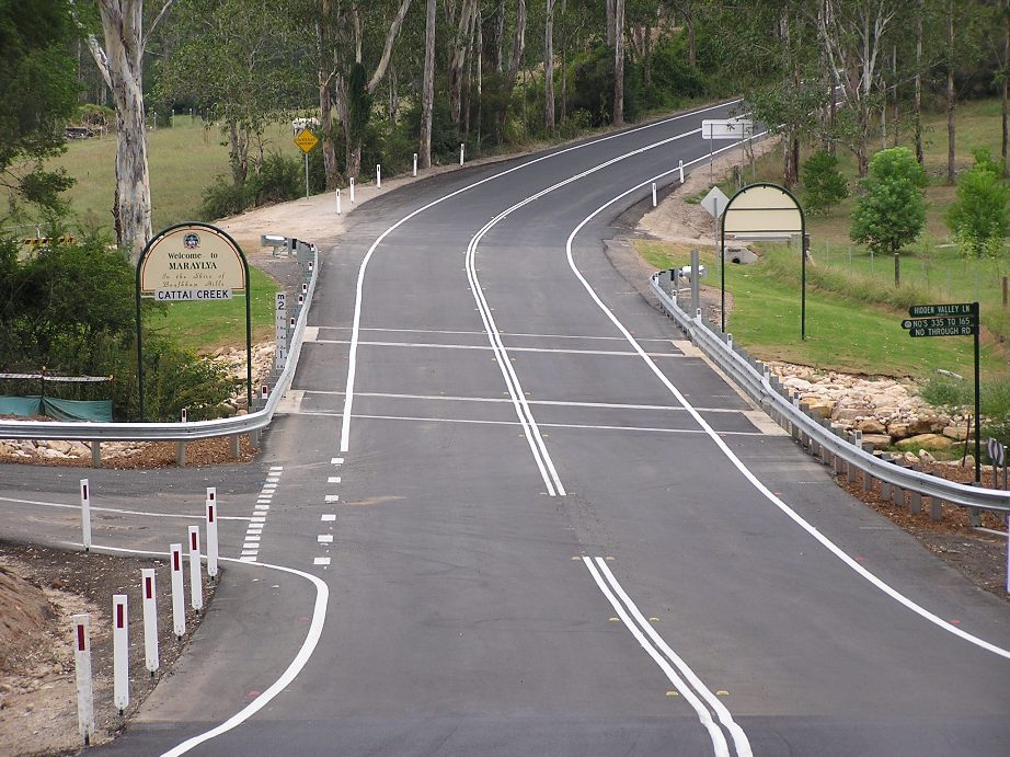 New Cattai Bridge over Cattai Creek on Cattai Ridge Road in Hills Shire Council area [Jan 2010]