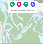 Have your say by pinning comments to a specfic location on our interactive map.