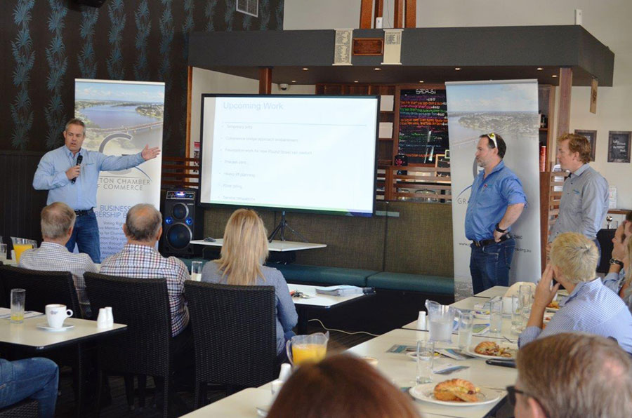 Project team presentation to Grafton Chamber of Commerce (April 2017)