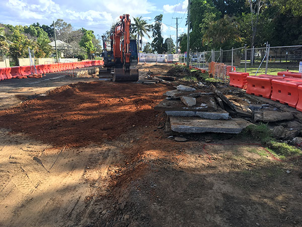 Earthworks underway adjacent to the TAFE on Clarence Street (October 2018)