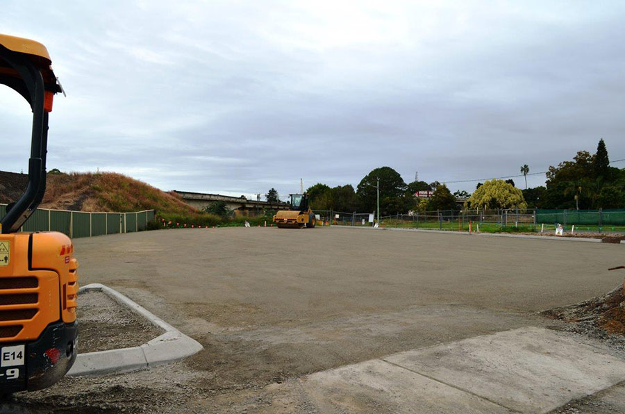 Construction of the new car park on Pound Street, Grafton (May 2017)