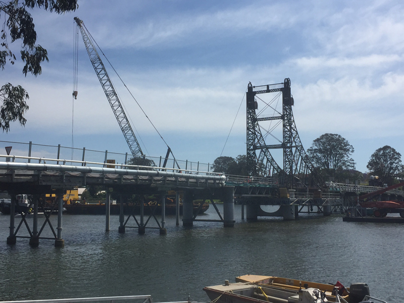 McFarlane Bridge restoration work (November 2015)