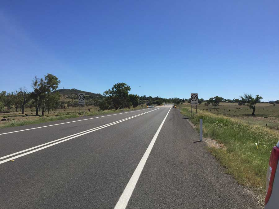 Road widening and improvements east of Gunnedah near Wilkinson Road (February 2017)