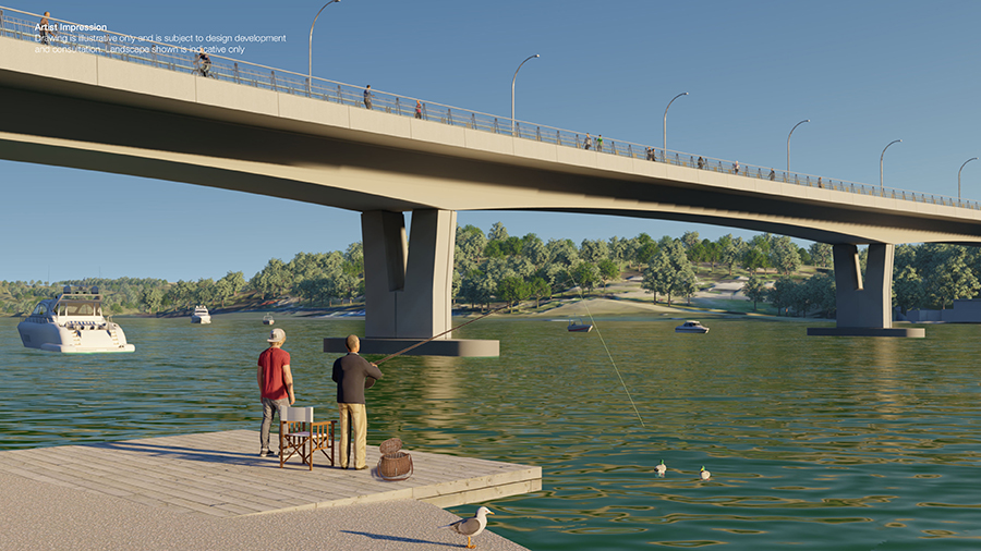 View of improved amenities for fishing