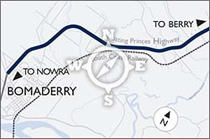Berry to Bomaderry announced route (GIF, 61Kb).