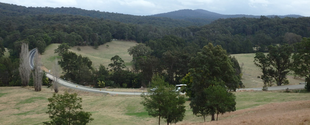 View of the existing Princes Highway at Dignams Creek