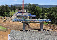 Time lapse of Berry bypass bridge construction