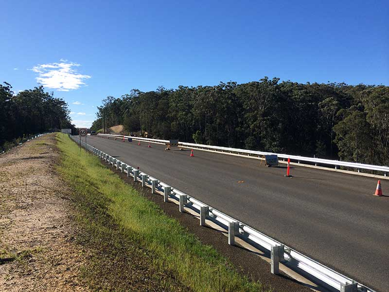 Newly Opened realigned section of the Princes Hwy. Looking North – May, 2016