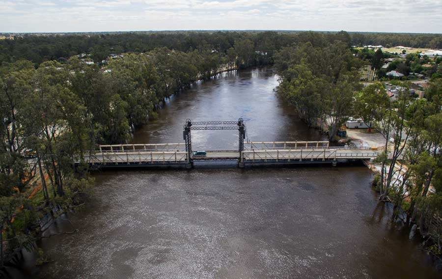 Aerial image of Barham Koondrook Bridge [November 2016]