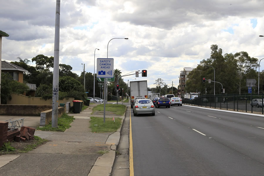 Pinch Point program. Hume Highway and Elizabeth Drive, Liverpool. [Apr 2011]